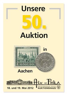 Katalog 50. Briefmarken- und Münzauktion