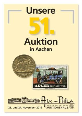 Katalog 51. Briefmarken- und Münzauktion
