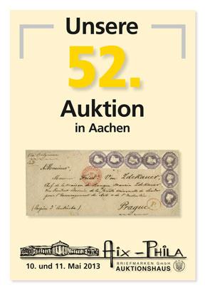 Katalog 52. Briefmarken- und Münzauktion