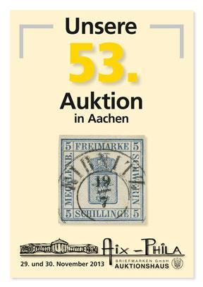 Katalog 53. Briefmarken- und Münzauktion