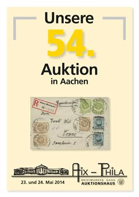 Katalog 54. Briefmarken- und Münzauktion