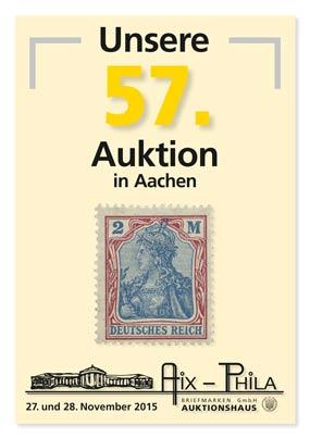Katalog 57. Briefmarken- und Münzauktion