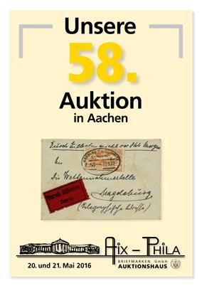 Katalog 58. Briefmarken- und Münzauktion