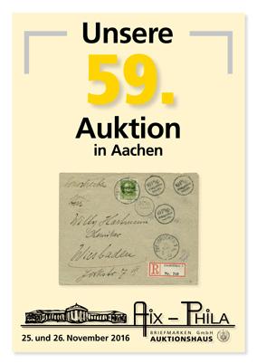 Katalog 59. Briefmarken- und Münzauktion