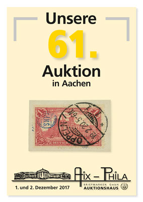 Katalog 61. Briefmarken- und Münzauktion
