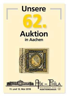 Katalog 62. Briefmarken- und Münzauktion