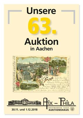 Katalog 63. Briefmarken- und Münzauktion