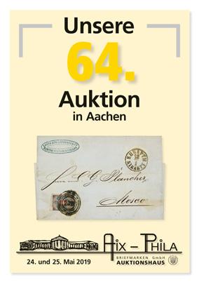 Katalog 64. Briefmarken- und Münzauktion