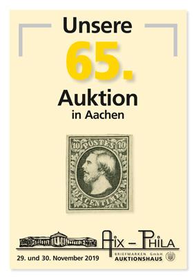 Katalog 65. Briefmarken- und Münzauktion