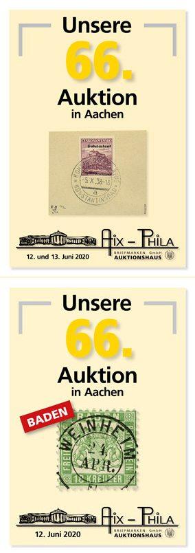 Katalog 66. Briefmarken- und Münzauktion